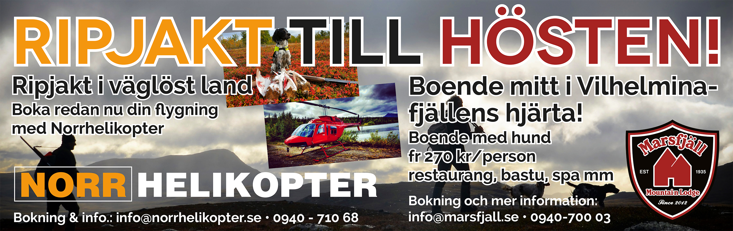 Ripjakt, Marsfjäll Mountain Lodge - Norrhelikopter